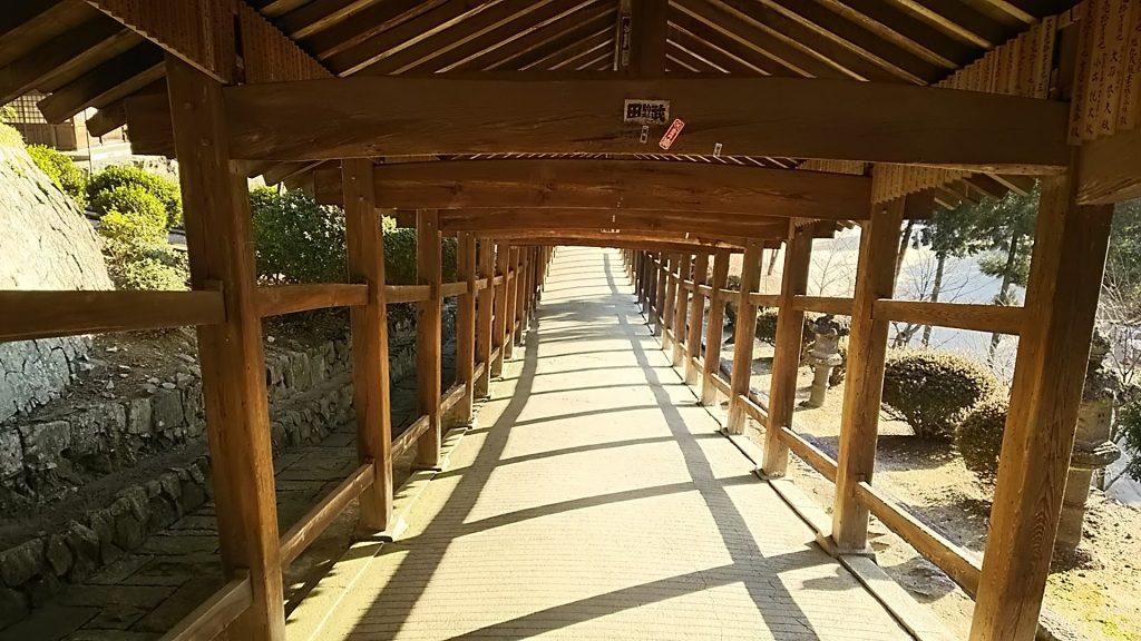 吉備津神社の回廊 岡山県岡山市