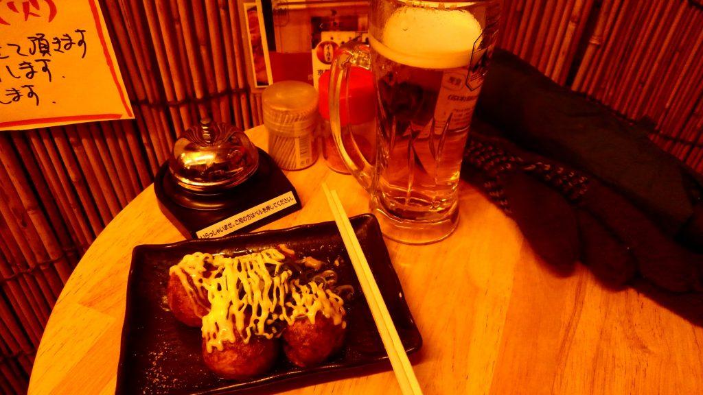 焼き(ヘンコ焼き)とビール