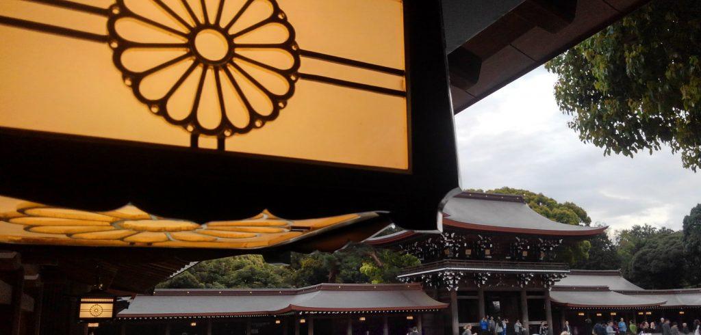 明治神宮 4月7日 夕刻 ほとんどが海外からの観光客でした